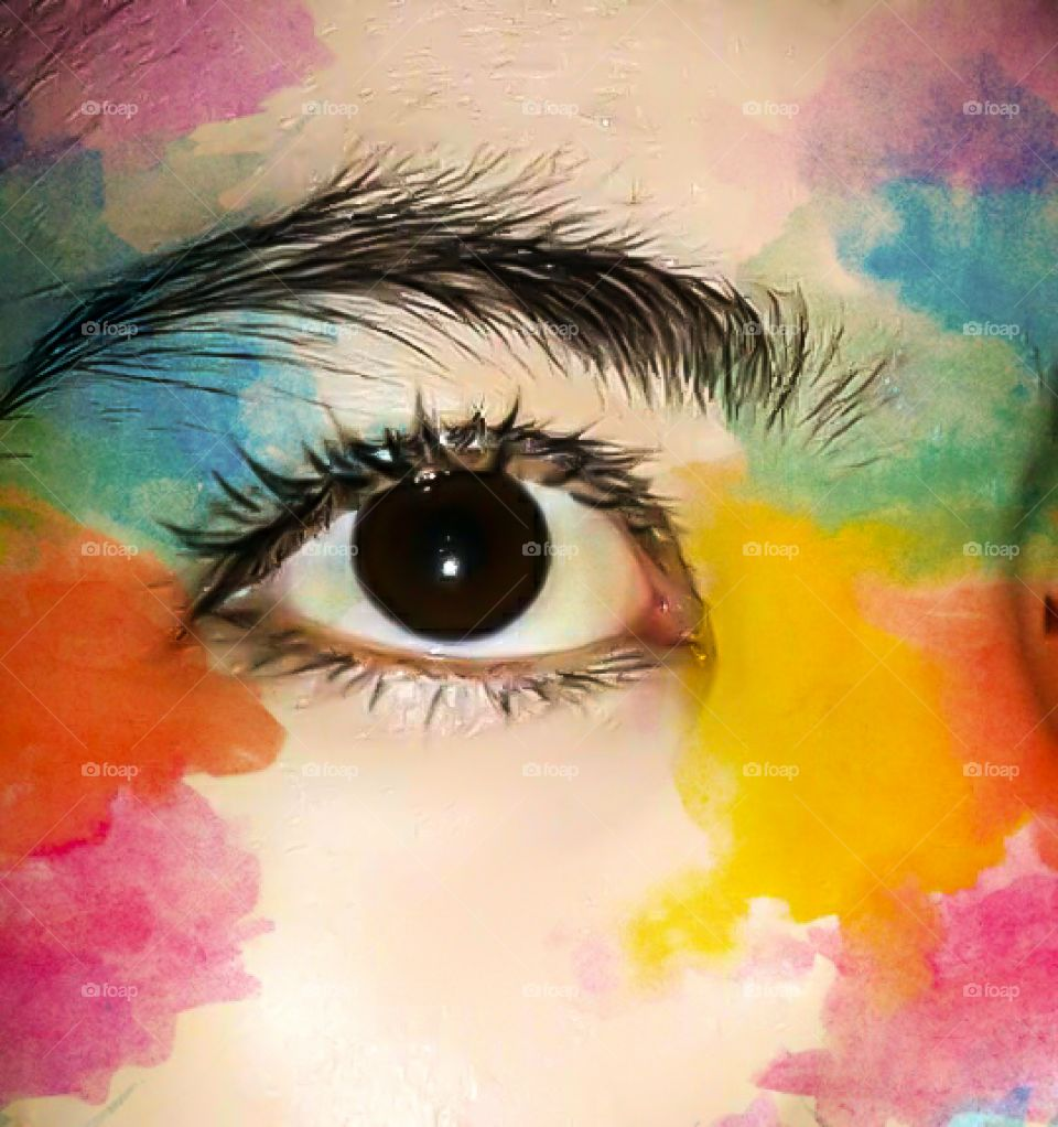 beautiful eyeball. be a special decoration
