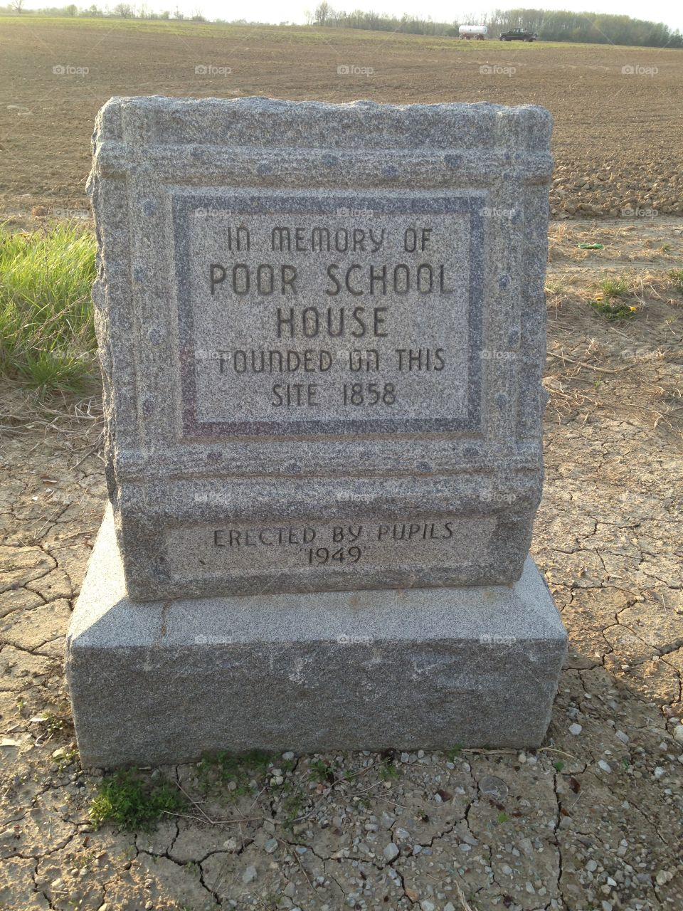 Historical marker Indiana Poor House School