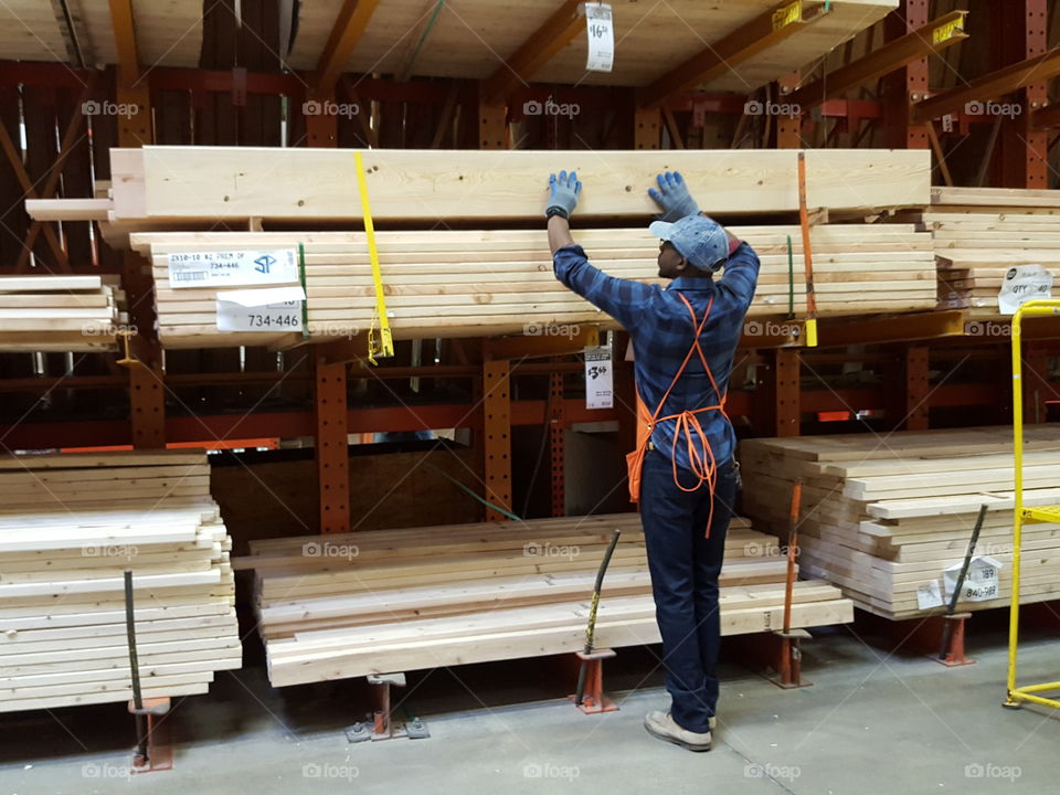 Man Working in Home Depot