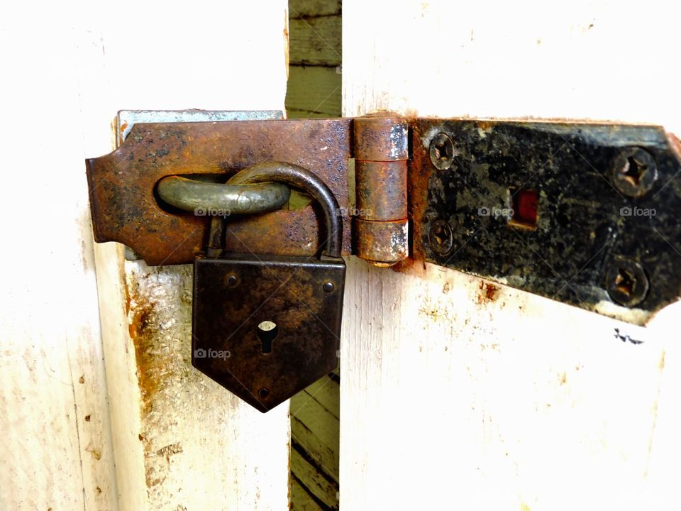 Old prison lock. This is a lock from an old prison on Maui