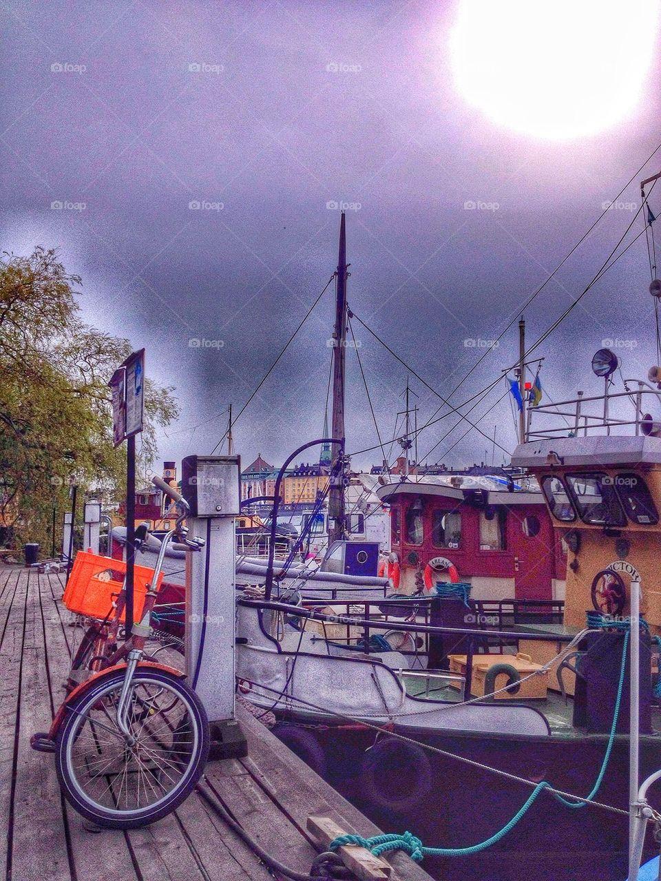 Bike at the dock