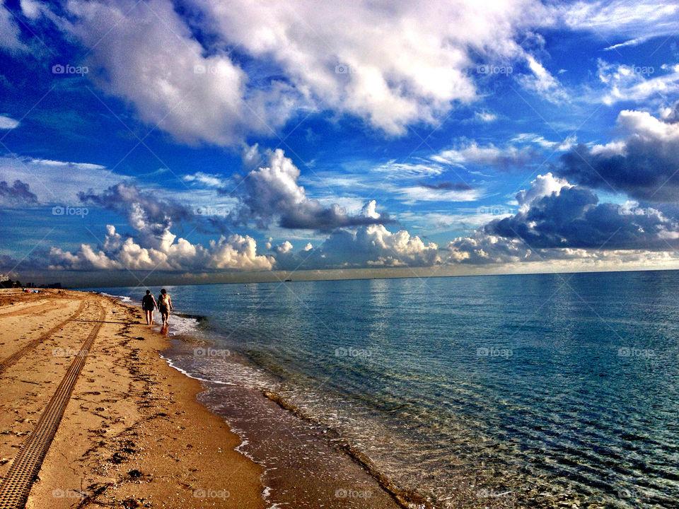 beach ocean sky summer by dee13