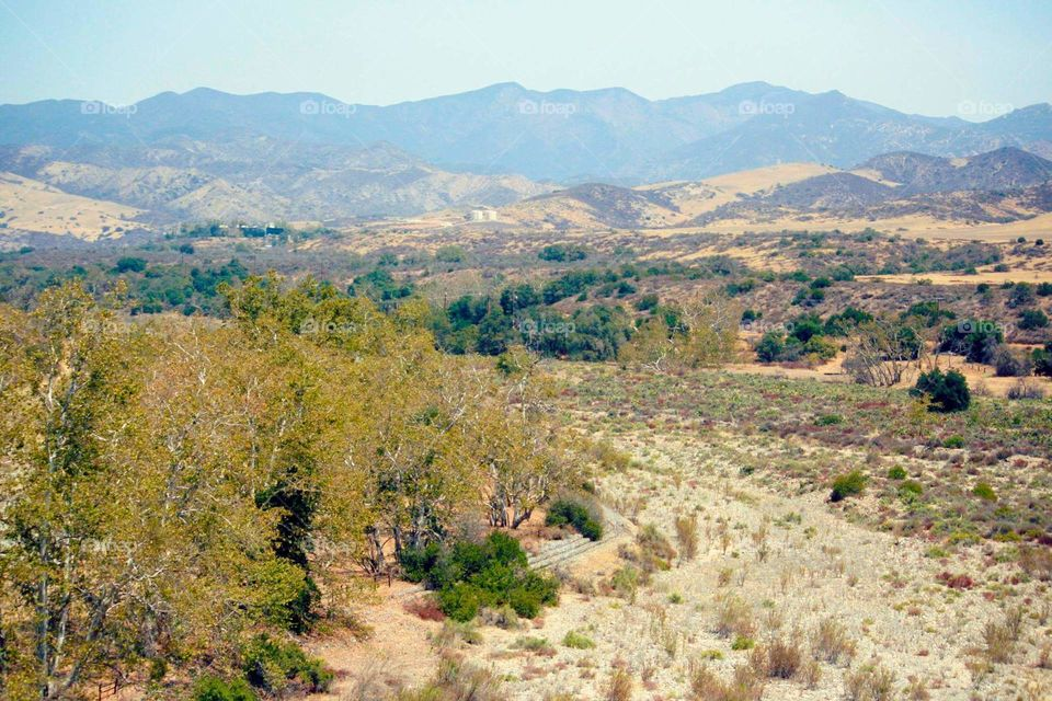 view of Santa Ana Mountain from Bell Canyon