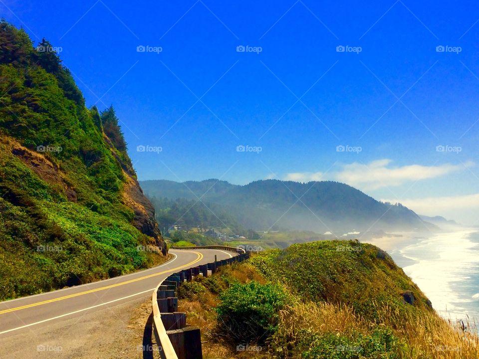Scenic view of oregon coast