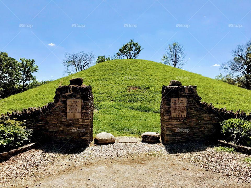 Shrum Mound ancient adena burial ground in Ohio