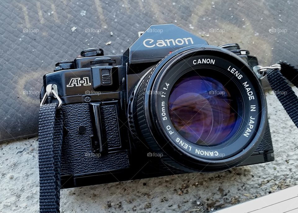 canon a-1  with 50mm 1.4