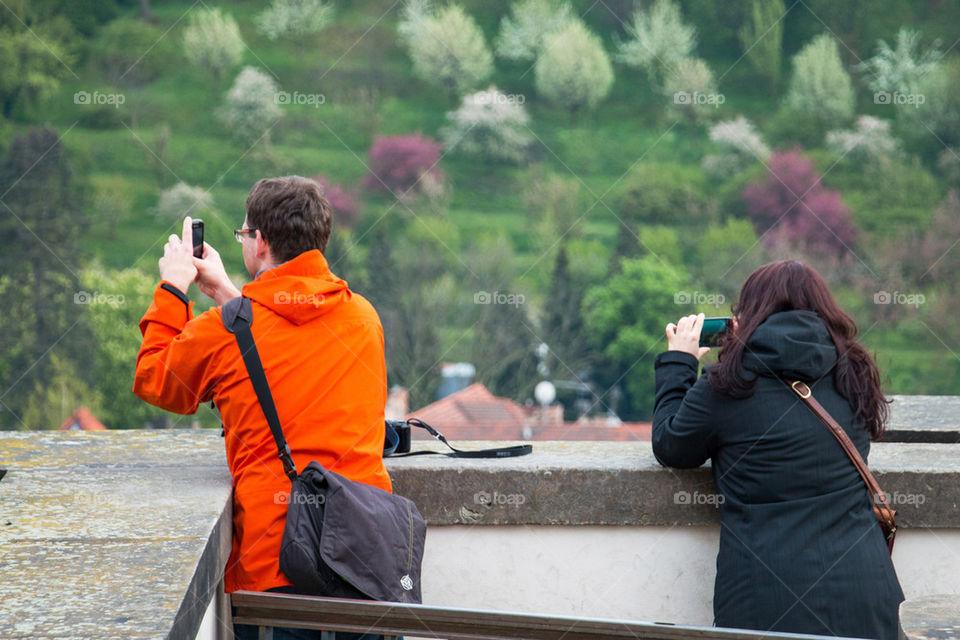 Couple taking photos