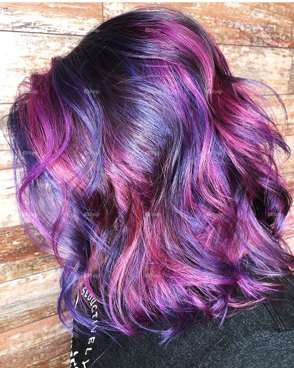 Multi tonal purples