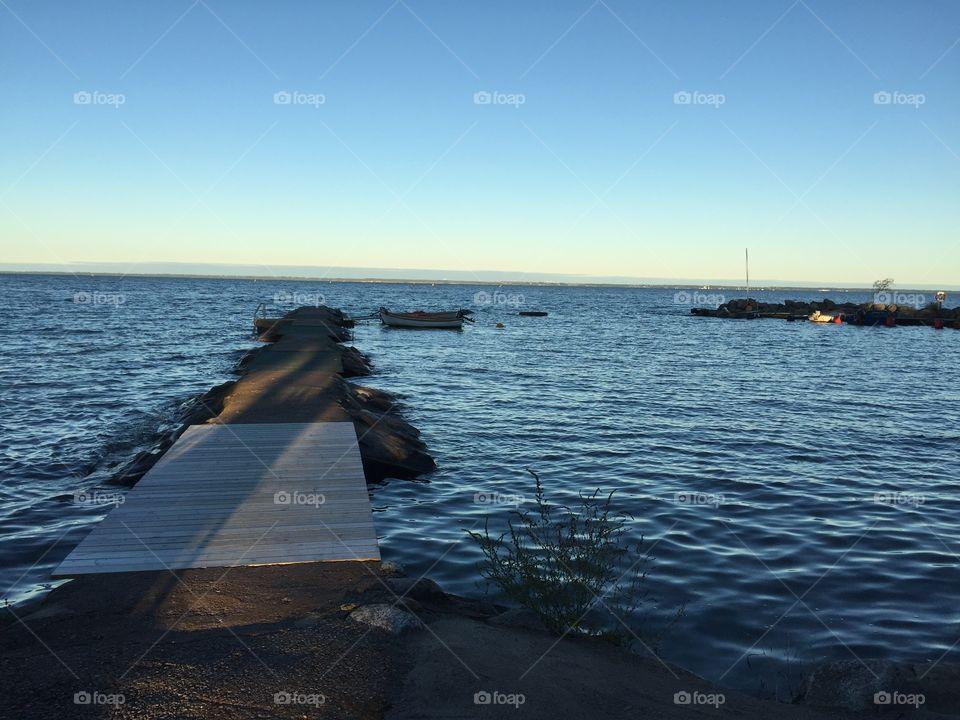 Bridge by the sea at Kalmarsund