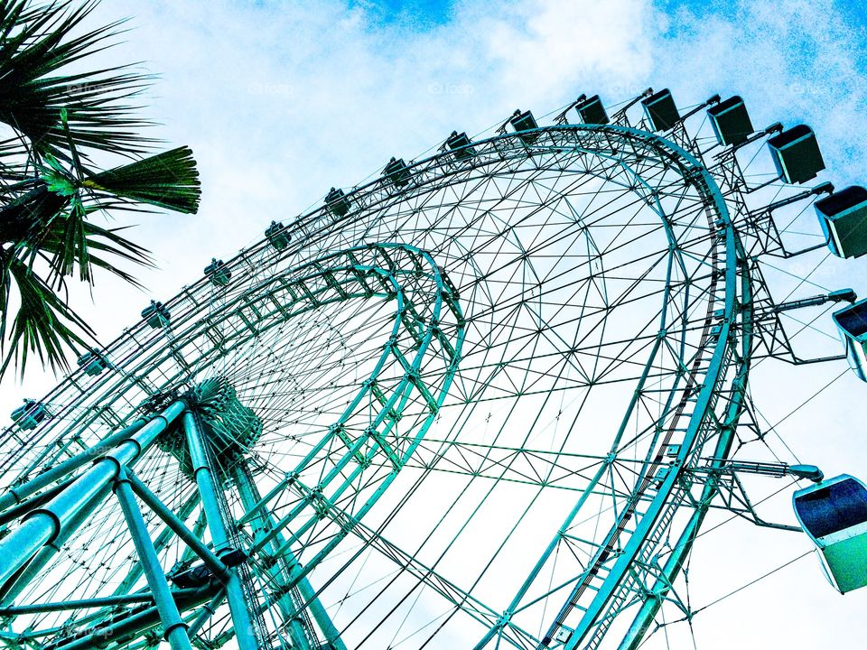 The Orlando Eye. Some would just call it a Ferris wheel. A very very big Ferris wheel. Located on I Drive in Orlando, you can see it for miles.