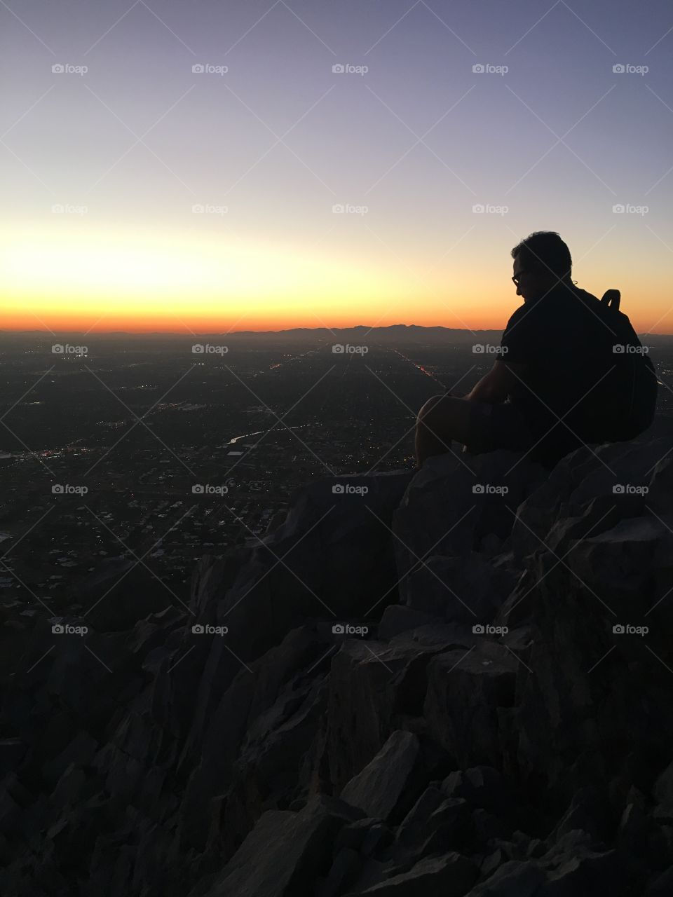 Watching the sunset from Piestwa Peak in Phoenix, AZ