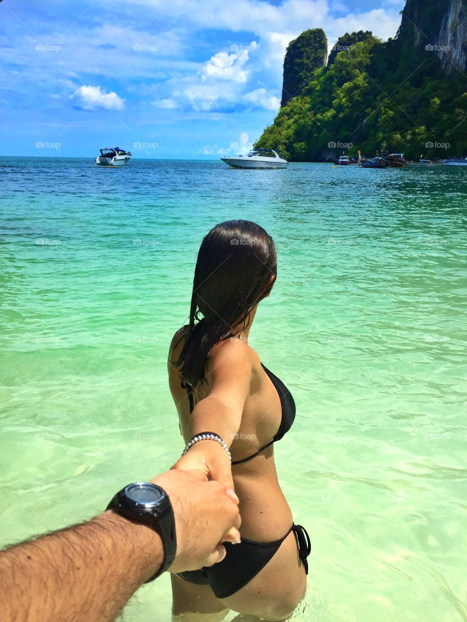 Thailand with my love . On a beautiful island at the beach