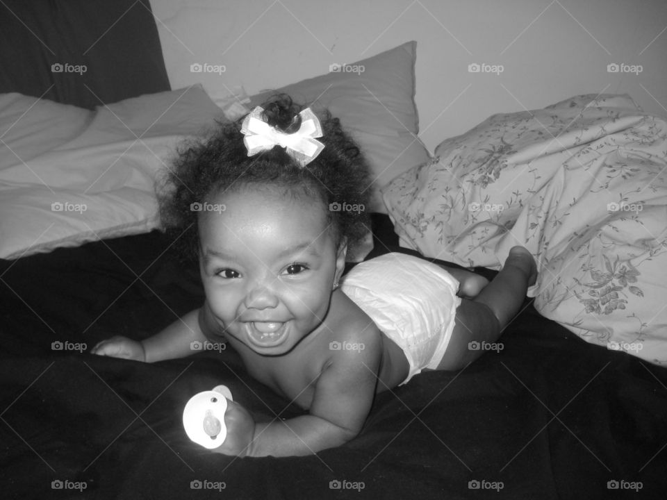 Happy Baby Black and White