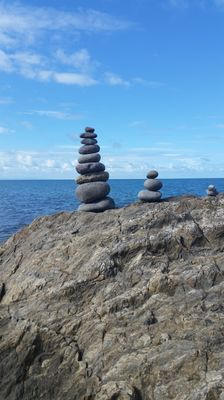 Rock stack by the ocean