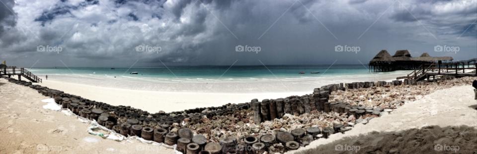 zanzibar beach sand sea by rajtamarind