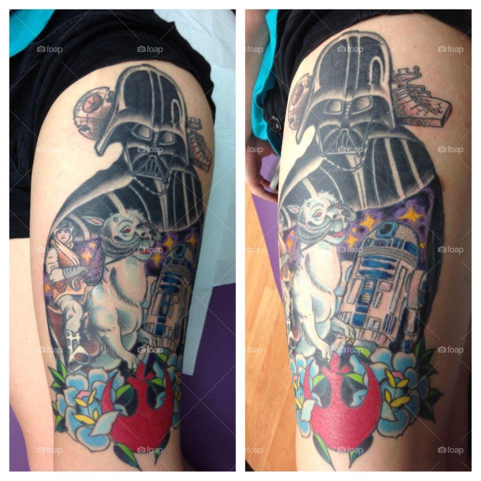 My Star Wars Leg Tattoo