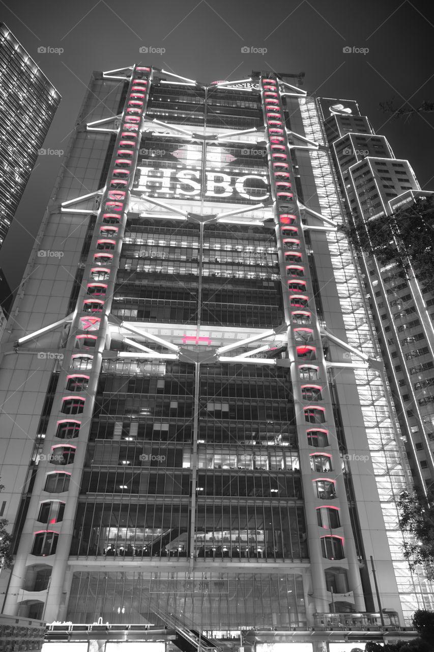 #Lion_Red #hsbc #central #hk #red #lion #hsbchk #night #2018 #sony6500 #nightwalk #cbd #hk
