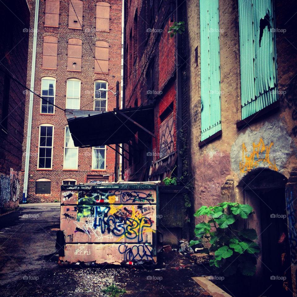 street graffiti city dark by rotten2thecorby