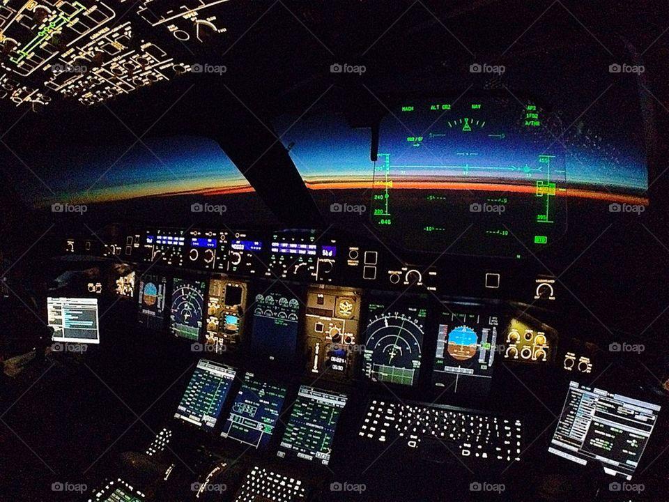 Airbus 380 cockpit