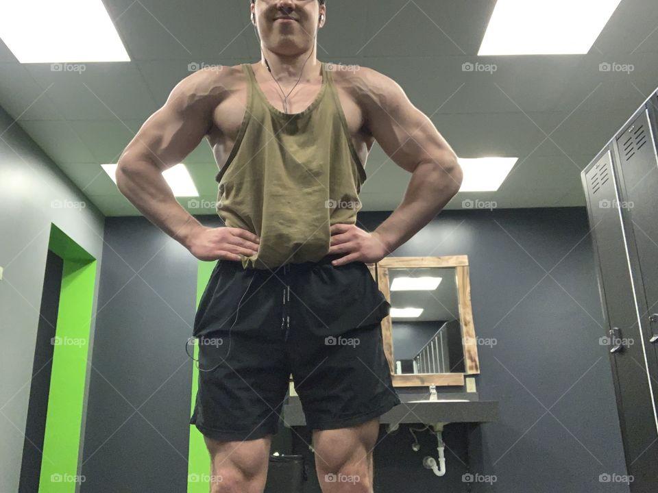 Gym pose