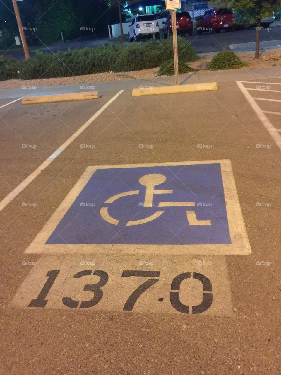 Disable parking space