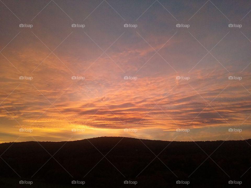 Orange Upstate New York Sunset