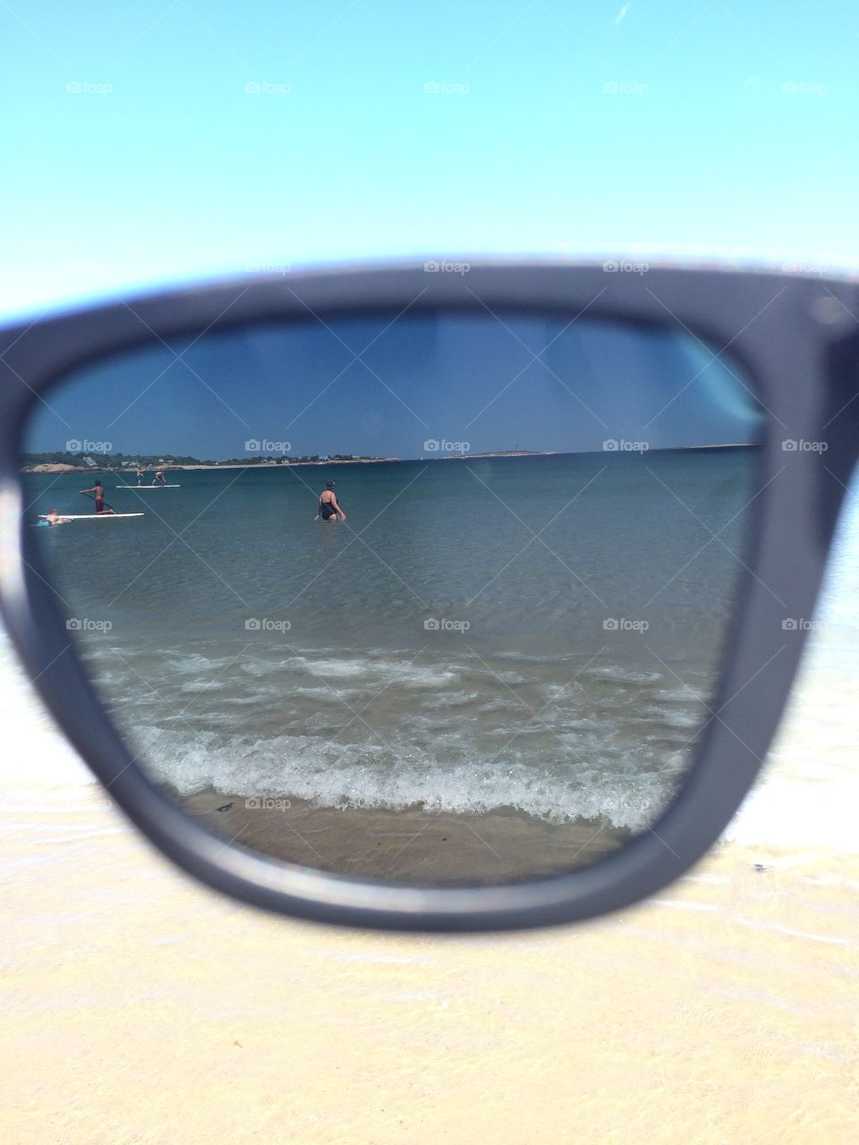 Through sunglasses