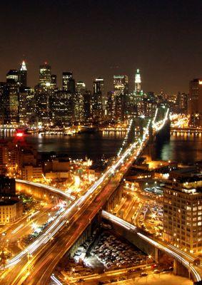 Golden City. Manhattan from Brooklyn