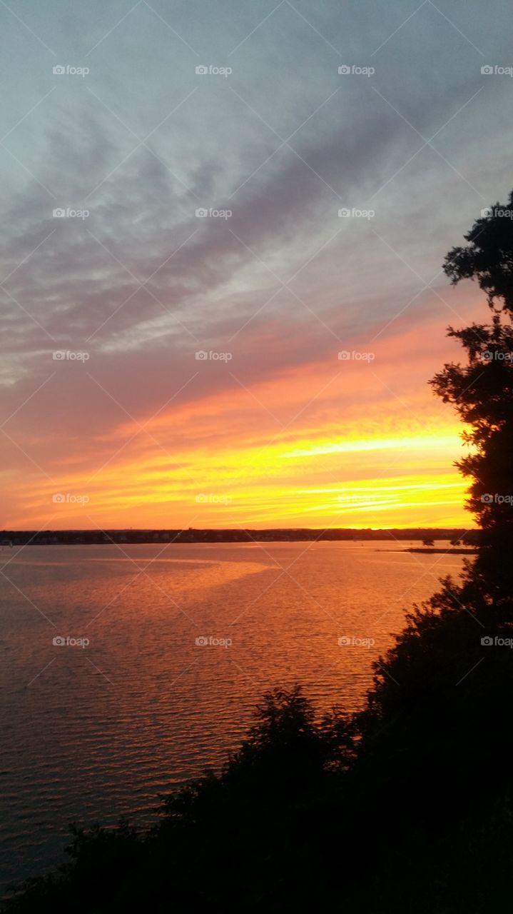 New England sunset