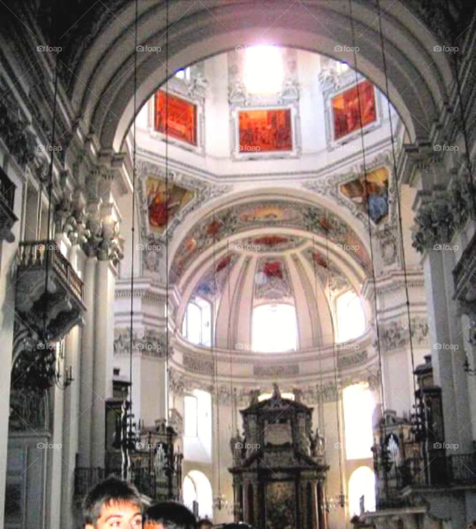 Beautiful interior at Salzburg Dome Austria
