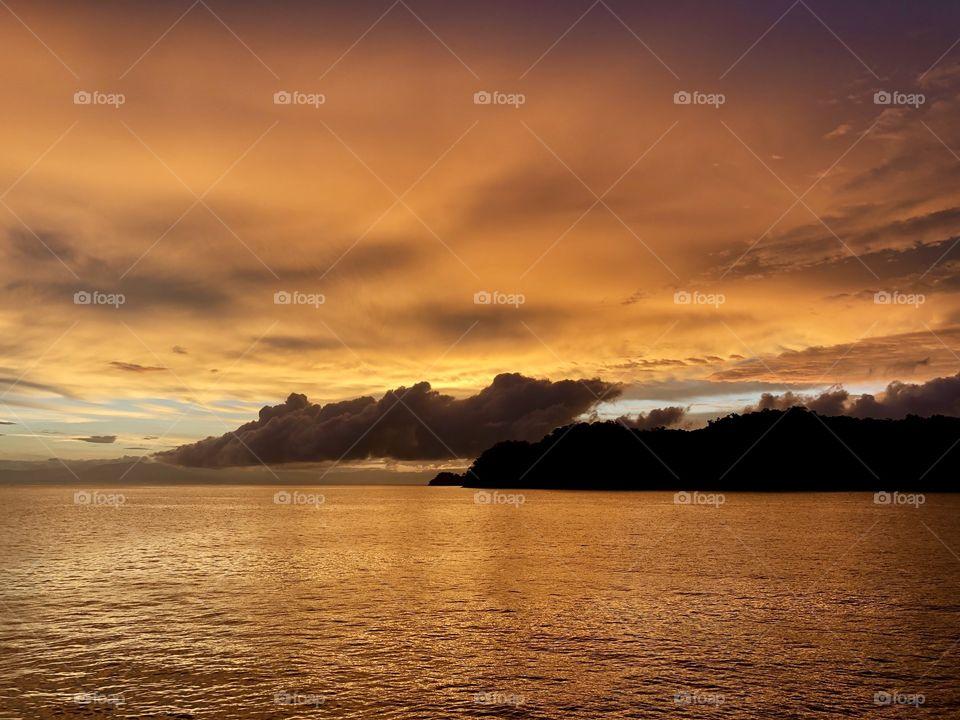 Sunrise in Puntarenas, Costa Rica