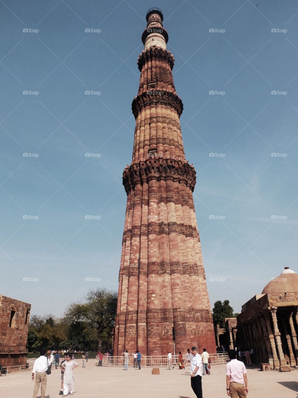 The wonder on earth - Qutub Minar is a World World Heritage Site and has survived the ravages of time impressively.The soaring conical tower is an exquisite example of Indo-Islamic Afghan architecture.