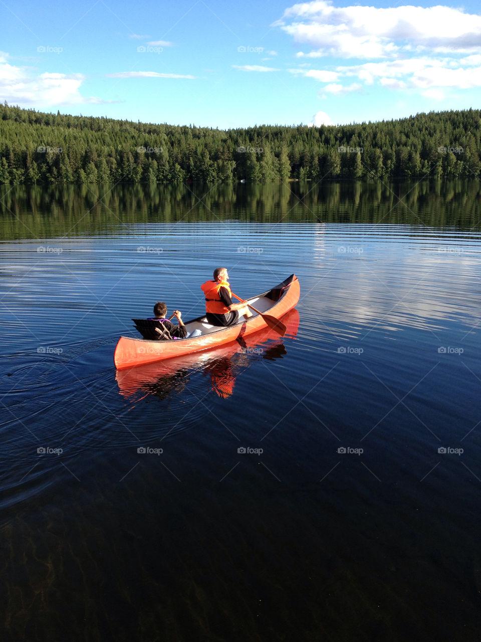 The lake Logärden in province Dalarna in Sweden.