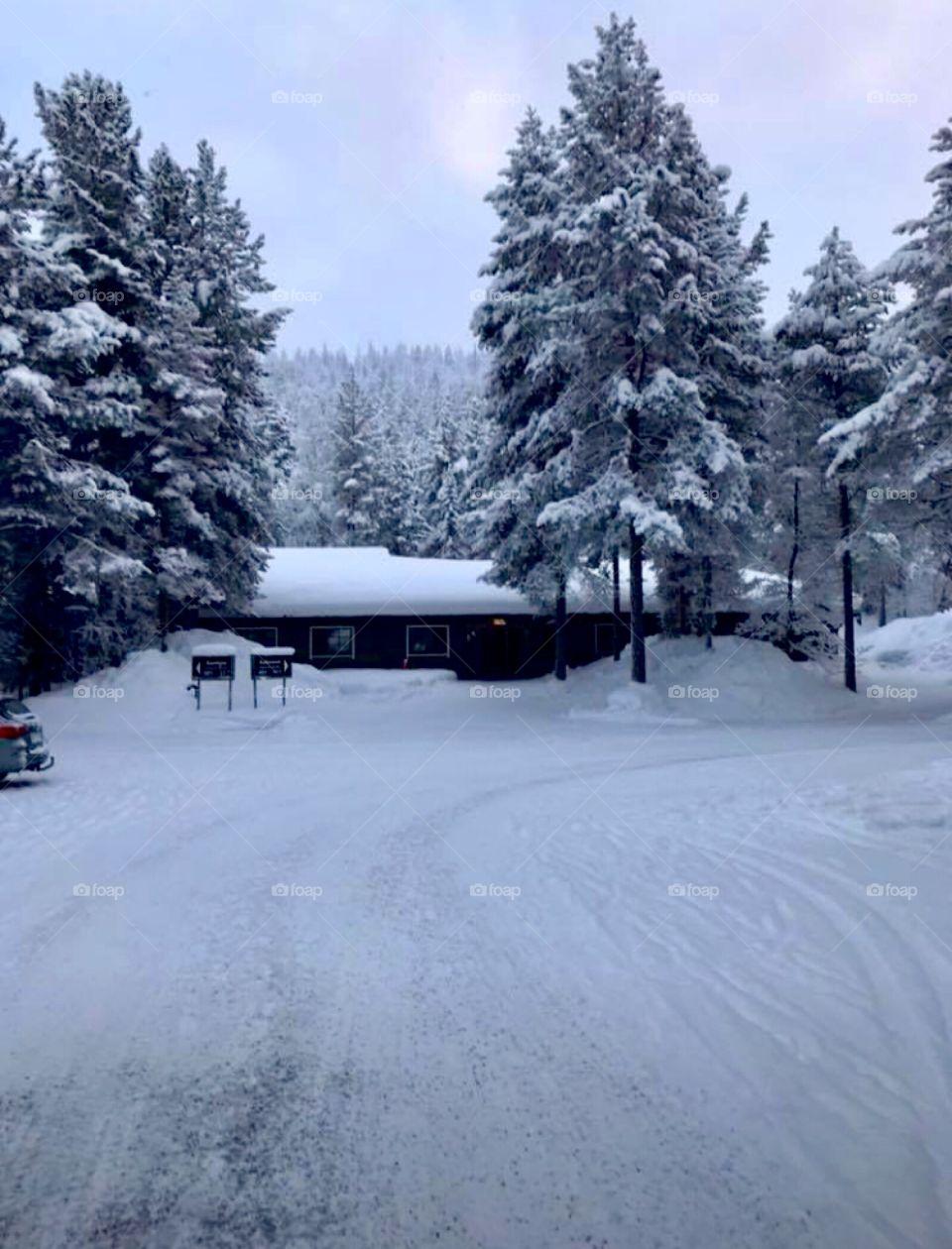 Holiday lodge resort in köngäs lappi in Finland