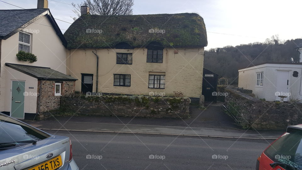 very old thatched cottage in Devon