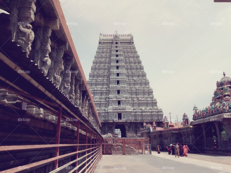 #Tiruvannamalai AnnamalaiyarTemple. It is significant to the Hindu sect ofsaivismas one of the temples associated with the five elements, thepancha bhootha stalas, and specifically the element of fire, orAgni.
