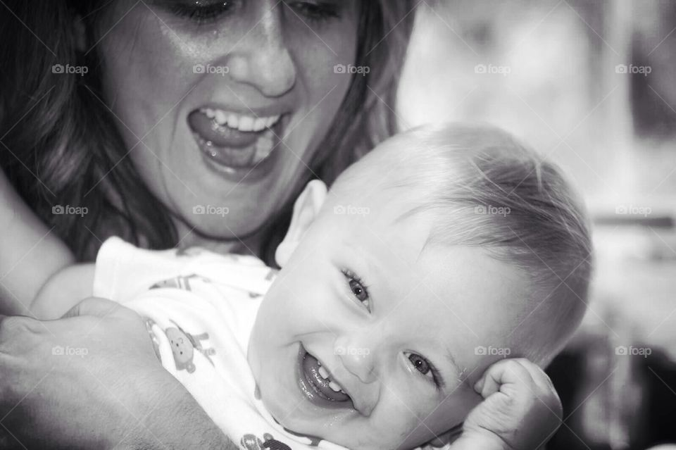 Giggles with Mommy