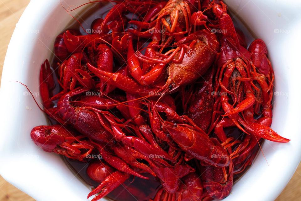 Bowl of crayfish / crawdad