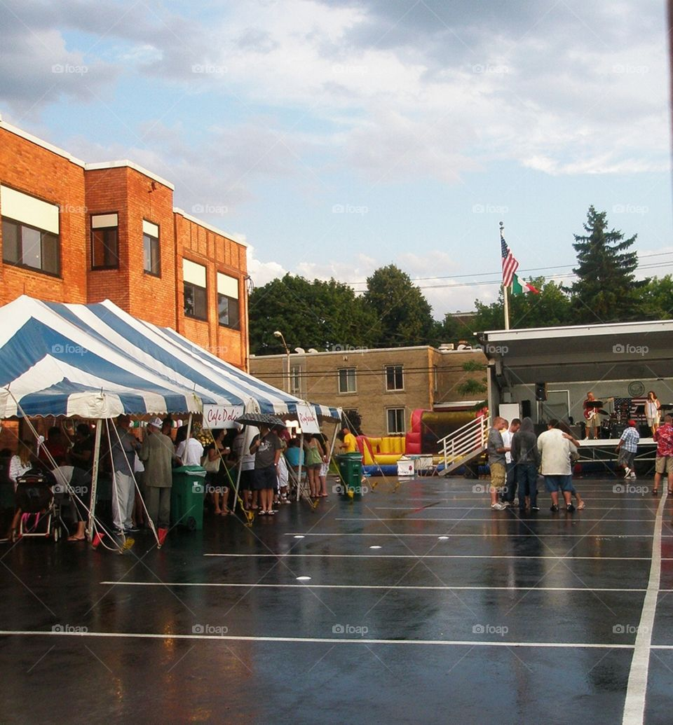 Flea market after the rain