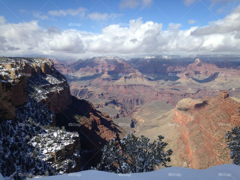 Grand Canyon summit. Grand Canyon summit snow day