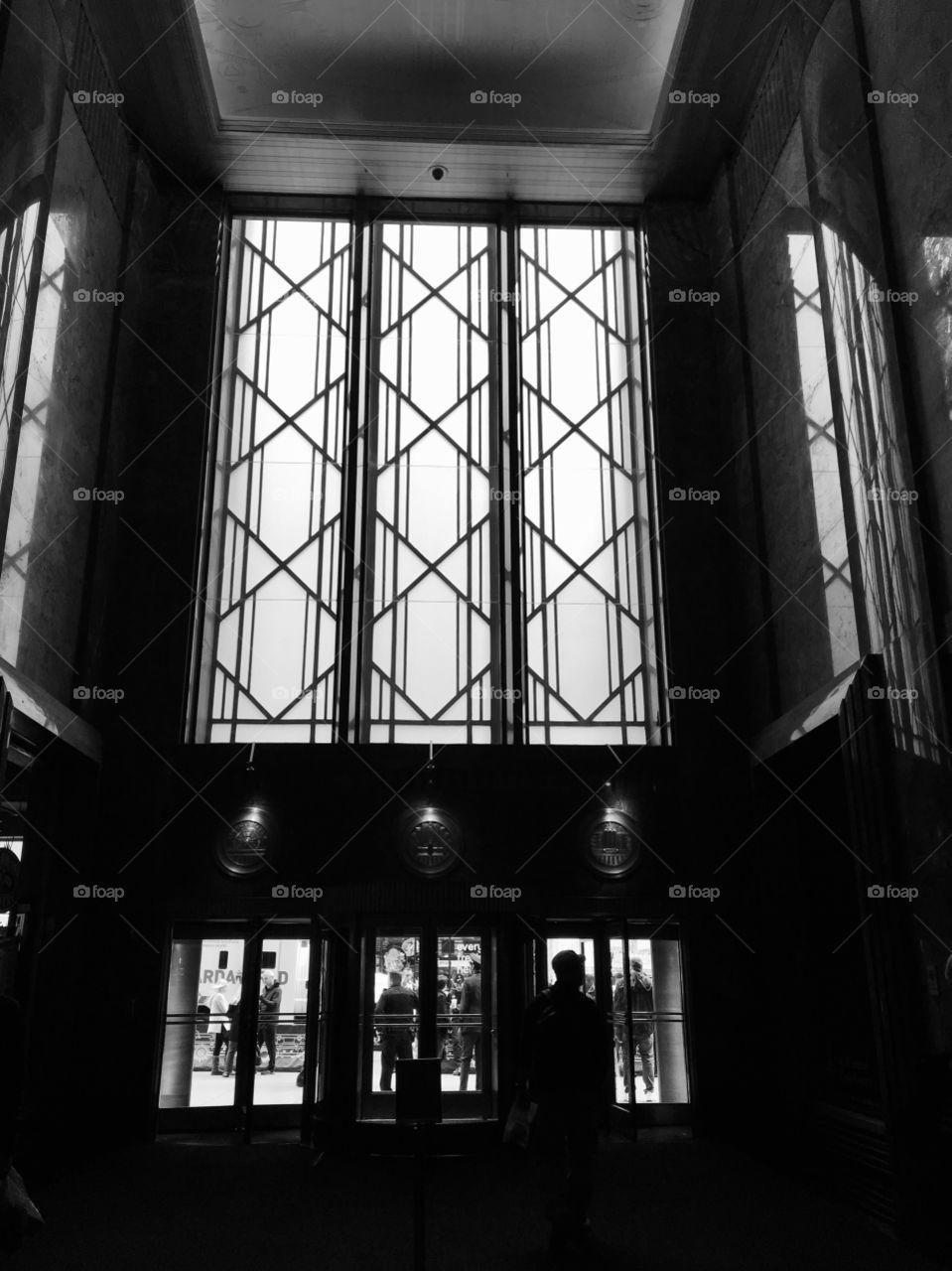 Art Deco windows in the city