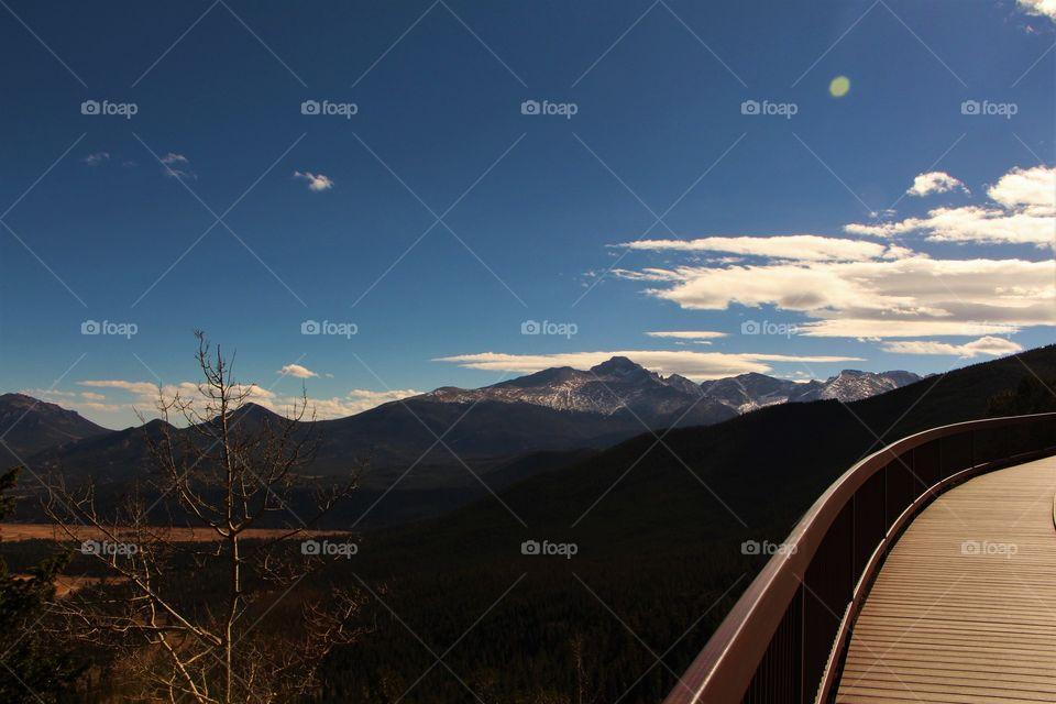 walkway in mountains