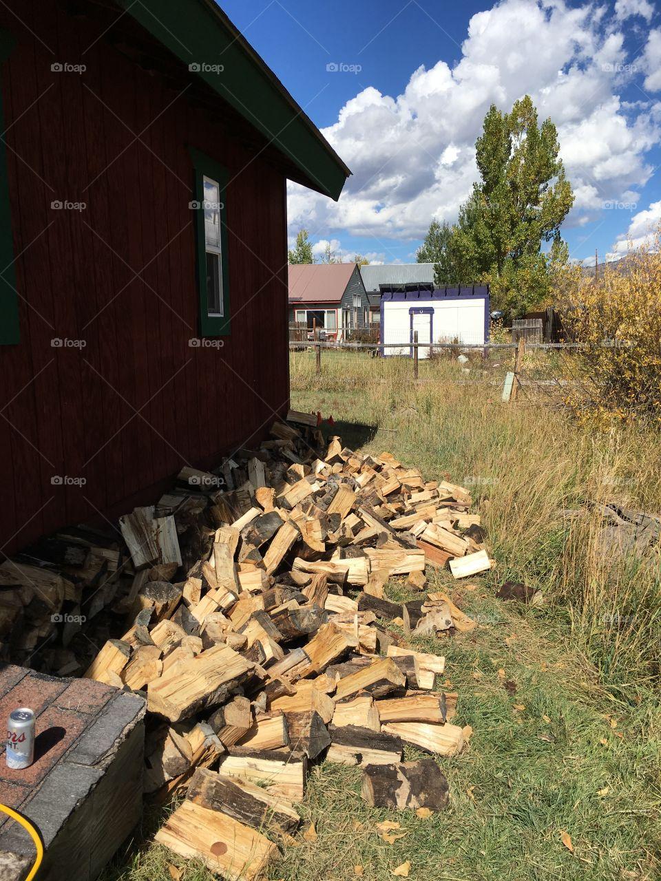 Fallen wood stack