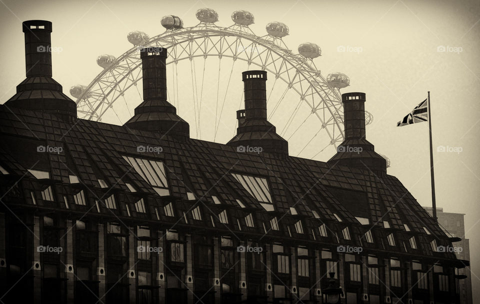 london architecture bw london eye by resnikoffdavid