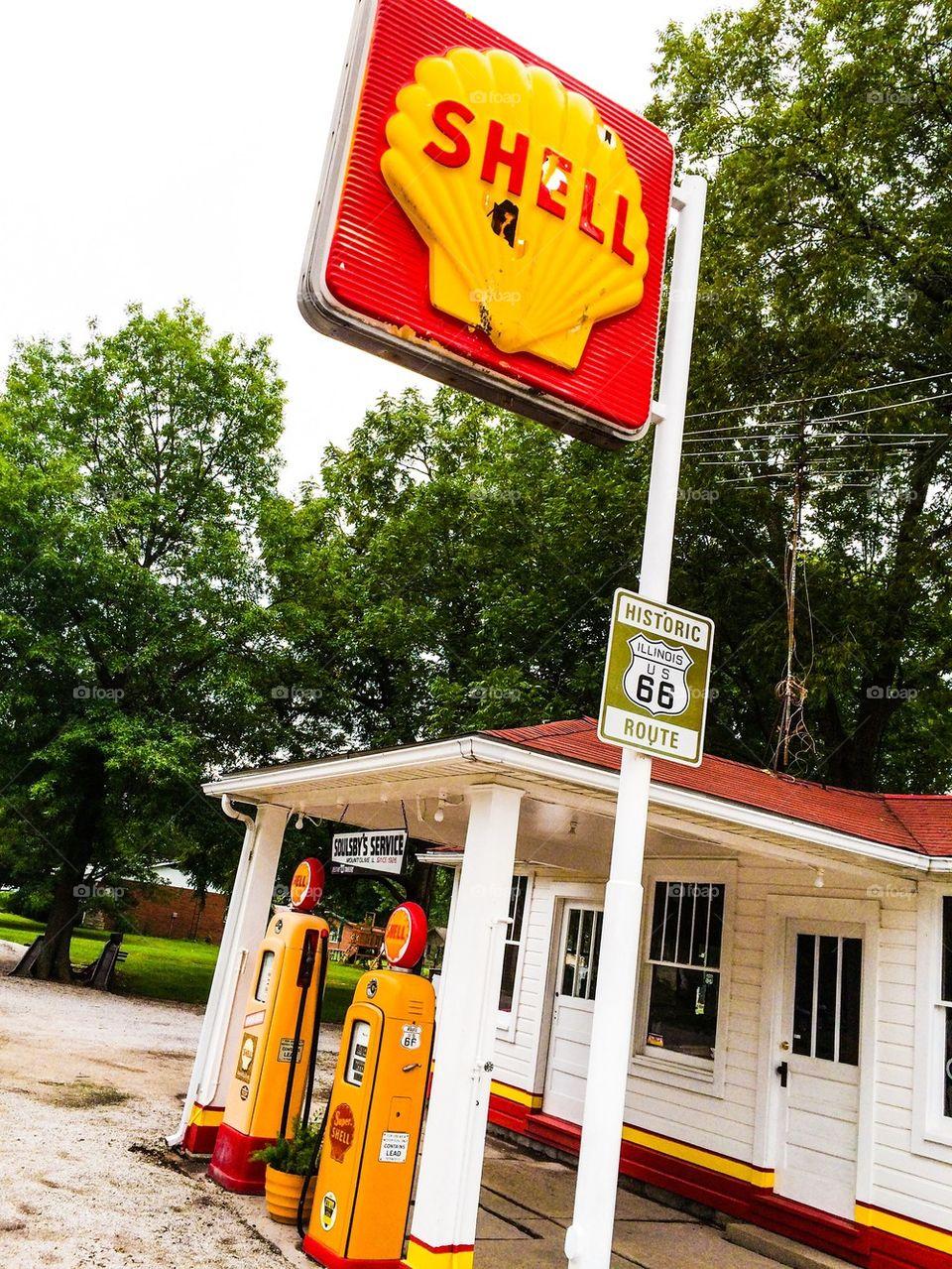 Vintage Shell Station