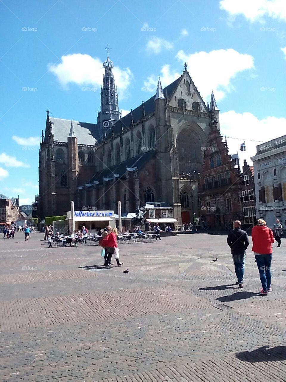Church. Beautiful church in Haarlem (The Netherlands)