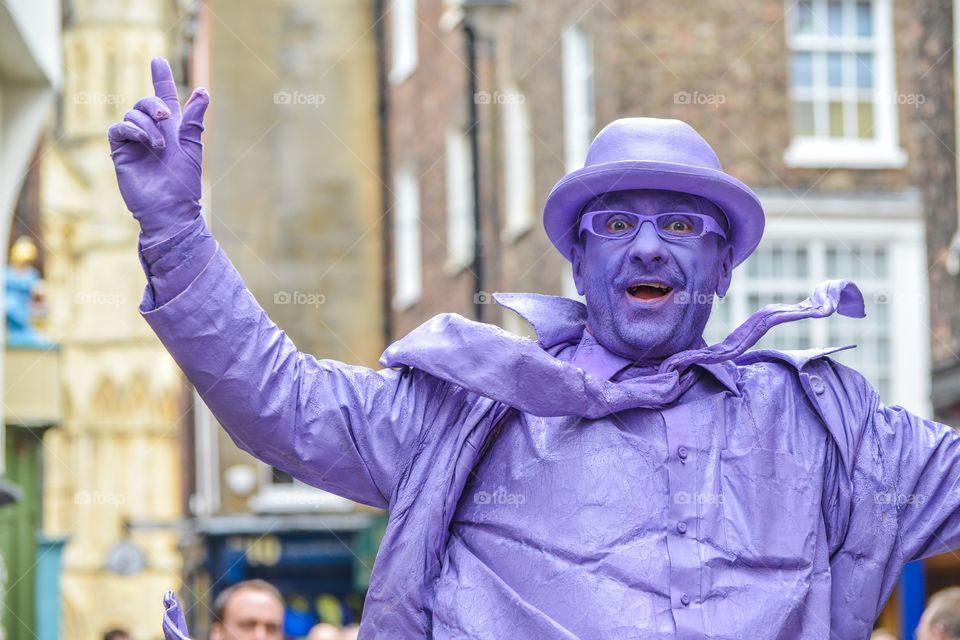 The purple man