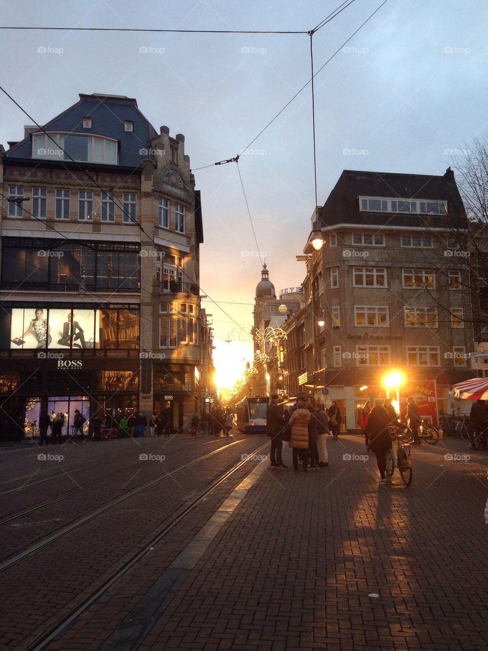 Amsterdam Sunset   alonbj, amsterdam, shopping, sunset