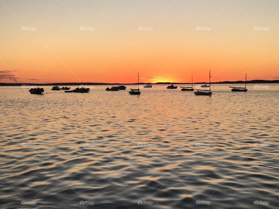 I took this photo when visiting Nantucket Island and was able to capture an absolutely beautiful shot of a truly awe-inspiring sunset from the harbor! Wow!