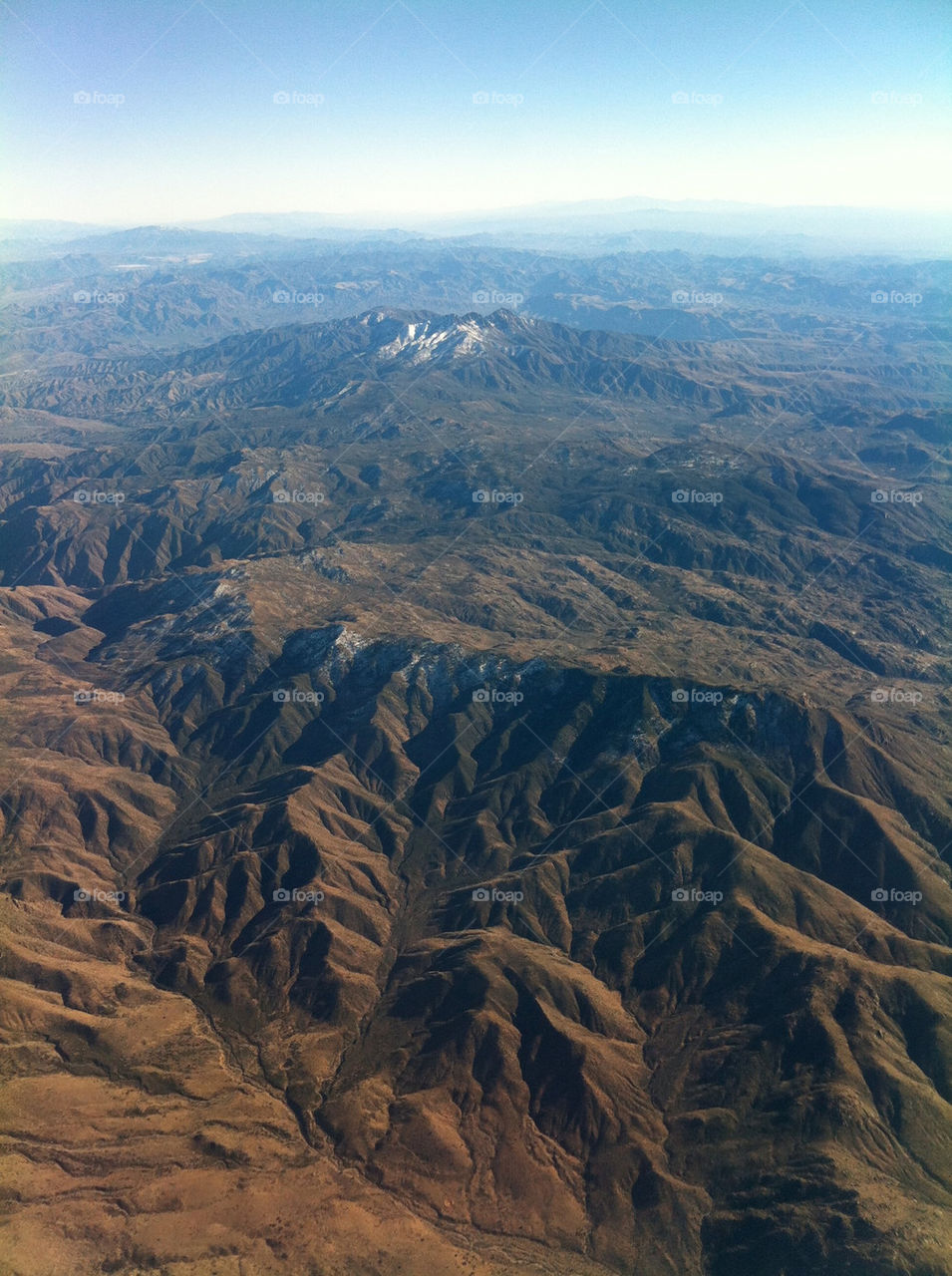 A snapshot over the mountains of the southwest.